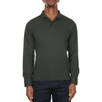 Abbigliamento Uomo Polo maniche lunghe Sun68 A40107 - 74 MILITARE SCURO Verde