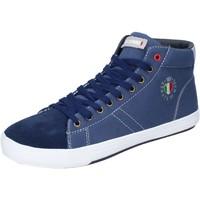 Scarpe Uomo Sneakers alte Armata Di Mare BJ84 Blu