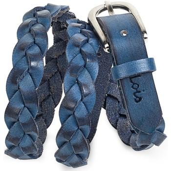 Accessori Donna Cinture Lois Braided Leather Blu
