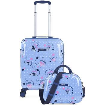 Borse Bambina Valigie rigide Skpat SMIL Cabina valigia e necessità Blu