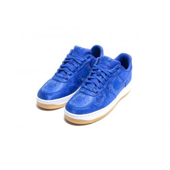 Scarpe Sneakers basse Nike Air Force 1 Low x CLOT Silk Blue Game Royal/White-Gum Light Brown