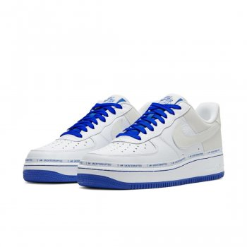 Scarpe Sneakers basse Nike Air Force 1 Low More Then White/Lapis Blue