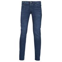 Abbigliamento Uomo Jeans slim Jack & Jones JJIGLENN Blu / Scuro