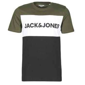 Abbigliamento Uomo T-shirt maniche corte Jack & Jones JJELOGO Kaki