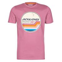 Abbigliamento Uomo T-shirt maniche corte Jack & Jones JORTYLER Rosa