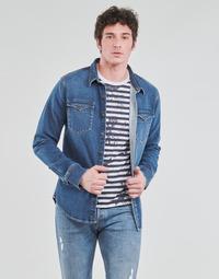 Abbigliamento Uomo Camicie maniche lunghe Yurban OPUCI Blu / Medium