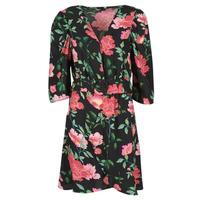 Abbigliamento Donna Abiti corti Only ONLEVE 3/4 SLEEVE SHORT DRESS WVN Nero / Rosa