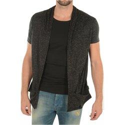 Abbigliamento Uomo Gilet / Cardigan Goldenim Paris Cardigans 1461 - Uomo nero