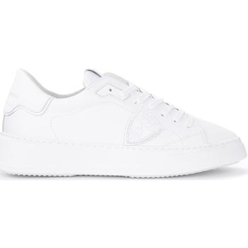 Scarpe Uomo Sneakers Philippe Model Sneaker Temple L in pelle bianca Bianco