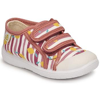 Scarpe Bambina Sneakers basse Citrouille et Compagnie GLASSIA Rosa / Stampato