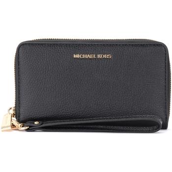 Borse Donna Portafogli MICHAEL Michael Kors Portafoglio da polso nero con porta smartphone Nero