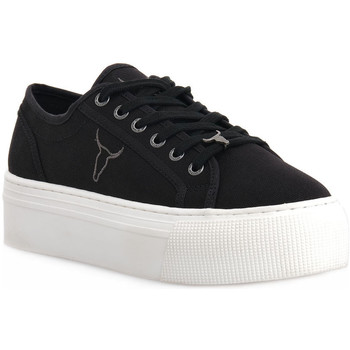 Scarpe Donna Sneakers basse Windsor Smith RUBY CANVAS BLACK Nero