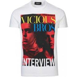 Abbigliamento Uomo T-shirt maniche corte Dsquared maniche corte S74GD0475 - Uomo bianco