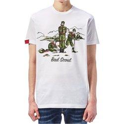 Abbigliamento Uomo T-shirt maniche corte Dsquared maniche corte S74GD0361 - Uomo bianco