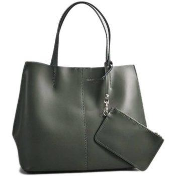Borse Donna Tote bag / Borsa shopping Christian Laurier AMY VERT FONCE