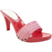 Scarpe Donna Ciabatte Kiara Shoes K6601 Rosso Pin-Up