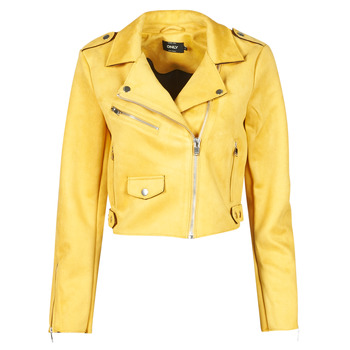 Abbigliamento Donna Giacca in cuoio / simil cuoio Only ONLSHERRY CROP BONDED BIKER  Giallo