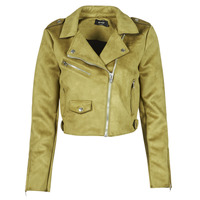 Abbigliamento Donna Giacca in cuoio / simil cuoio Only ONLSHERRY CROP BONDED BIKER Verde