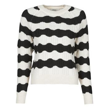 Abbigliamento Donna Maglioni Only ONLKAITLIN Nero / Bianco