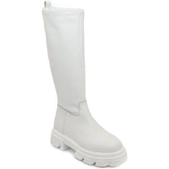 Scarpe Donna Stivali Ls Luisantiago Stivali donna  Xena Platform boots in vera pelle BIANCO