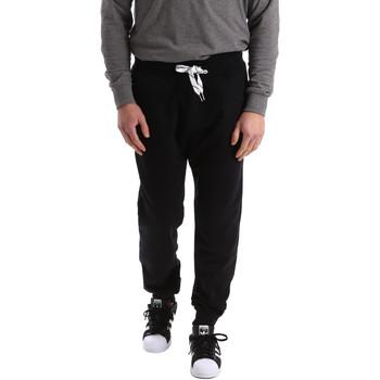 Abbigliamento Uomo Pantaloni da tuta Key Up 2F37I 0001 Nero