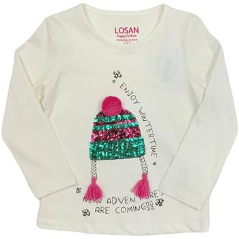 Abbigliamento Unisex bambino T-shirts a maniche lunghe Losan 026-1201AL Bianco
