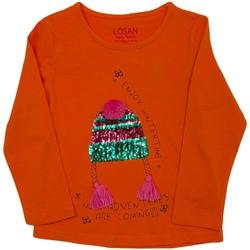 Abbigliamento Unisex bambino T-shirts a maniche lunghe Losan 026-1201AL Arancio