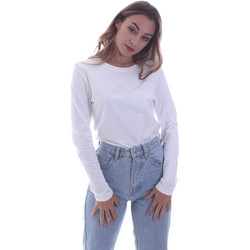Abbigliamento Donna T-shirts a maniche lunghe Calvin Klein Jeans K20K202386 Bianco