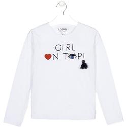 Abbigliamento Unisex bambino T-shirts a maniche lunghe Losan 024-1021AL Bianco