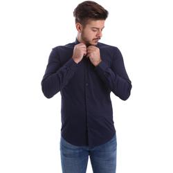 Abbigliamento Uomo Camicie maniche lunghe Automatic CAU22400 Blu