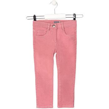 Abbigliamento Unisex bambino Pantaloni 5 tasche Losan 026-9001AL Rosa