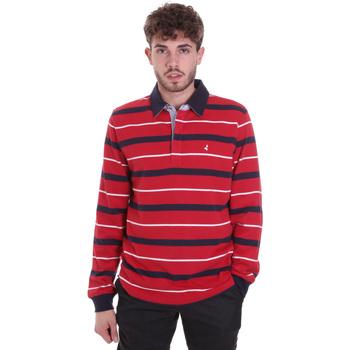 Abbigliamento Uomo Polo maniche lunghe Navigare NV30030 Rosso
