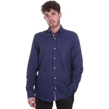 Abbigliamento Uomo Camicie maniche lunghe Navigare NV91135 BD Blu
