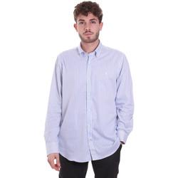 Abbigliamento Uomo Camicie maniche lunghe Navigare NV91111 BD Blu