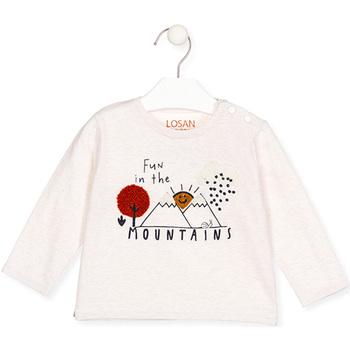 Abbigliamento Bambina T-shirts a maniche lunghe Losan 027-1018AL Beige
