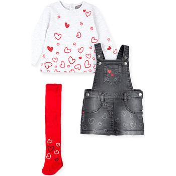 Abbigliamento Bambina Completo Losan 028-8002AL Grigio