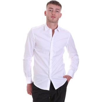Abbigliamento Uomo Camicie maniche lunghe Antony Morato MMSL00628 FA400079 Bianco