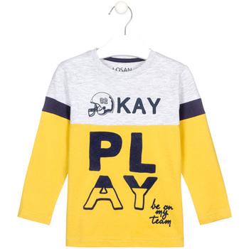 Abbigliamento Unisex bambino T-shirts a maniche lunghe Losan 025-1012AL Giallo