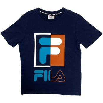 Abbigliamento Unisex bambino T-shirt maniche corte Fila 688149 Blu