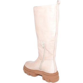 Scarpe Donna Stivali Ls Luisantiago Stivali donna xena platform boots in vera pelle BEIGE