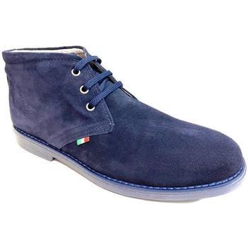 Scarpe Uomo Stivaletti Lavorazione Artigianale Italiana ATRMPN-23755 Blu