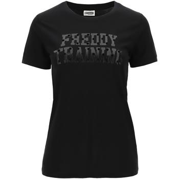 Abbigliamento Donna T-shirt maniche corte Freddy - T-shirt nero F0WTRT1-N NERO