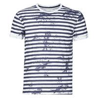 Abbigliamento Uomo T-shirt maniche corte Yurban OLORD Marine / Bianco