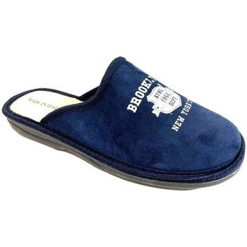 Scarpe Uomo Pantofole Lavorazione Artigianale Italiana ATRMPN-23779 Blu