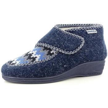 Scarpe Donna Pantofole Emanuela 18005 BLU