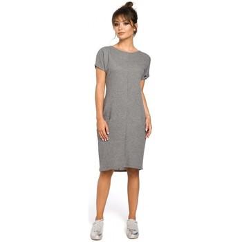 Abbigliamento Donna Vestiti Be B050 Abito midi con tasche interne - grigio