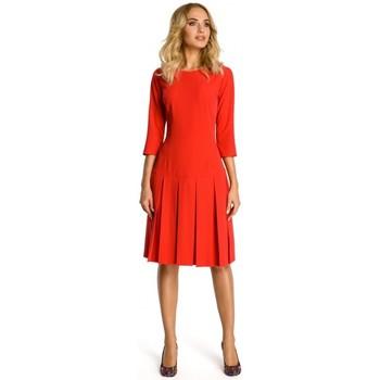Abbigliamento Donna Abiti corti Moe M336 Abito a vita bassa con pieghe - rosso