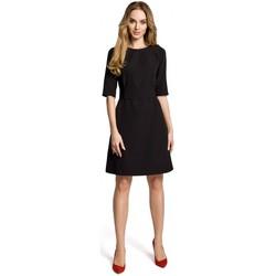 Abbigliamento Donna Abiti corti Moe M362 Abito semplice a-line con cintura - nero