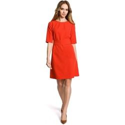Abbigliamento Donna Abiti corti Moe M362 Abito semplice a-line con cintura - rosso