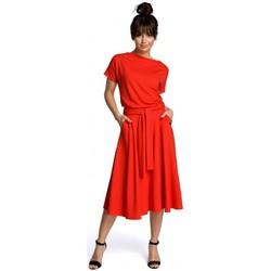 Abbigliamento Donna Abiti corti Be B067 Abito svasato - rosso